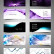 Various Business Card set collection wave vector — Stock Vector