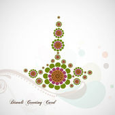 Happy diwali card artistic diya colorful vector background — Stock Vector