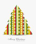 Frohe weihnachten elegante baum karte farbigen hintergrund — Stockvektor