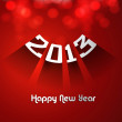 Royalty-Free Stock Vector Image: Happy new year stylish 2013 bright colorful red background vecto