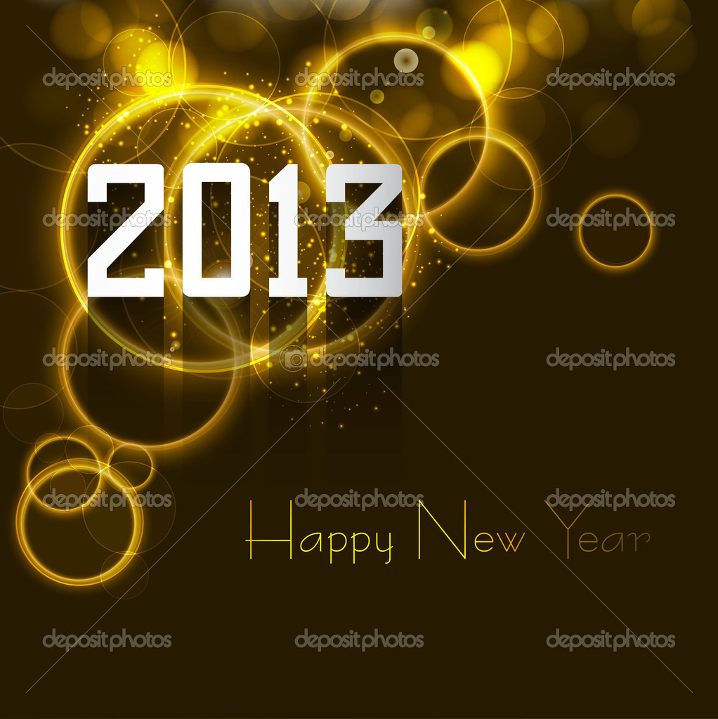 Happy new year 2013 bright colorful celebration circle vector design — Stock Vector #15640399