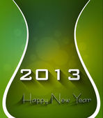 New year shiny stylish 2013 bright green wave colorful vector — Stock Vector
