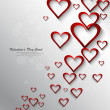 Heart colorful shape shiny Valentine day whit background Vector — Imagen vectorial