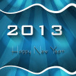 New year shiny stylish 2013 bright blue wave colorful vector  — Stock Vector