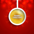 Shiny red christmas ball colorful vector background — Stock Vector