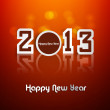 Stock Vector: Happy new year stylish 2013 reflection colorful background