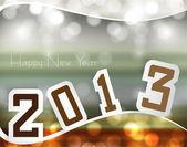 Mutlu yeni yıl 2013 renkli tasarım — Stok Vektör