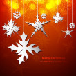 Abstract metal Snowflakes colorful vector design — Stock Vector