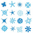 Snowflake collection elements Vector — Vector de stock #16944043