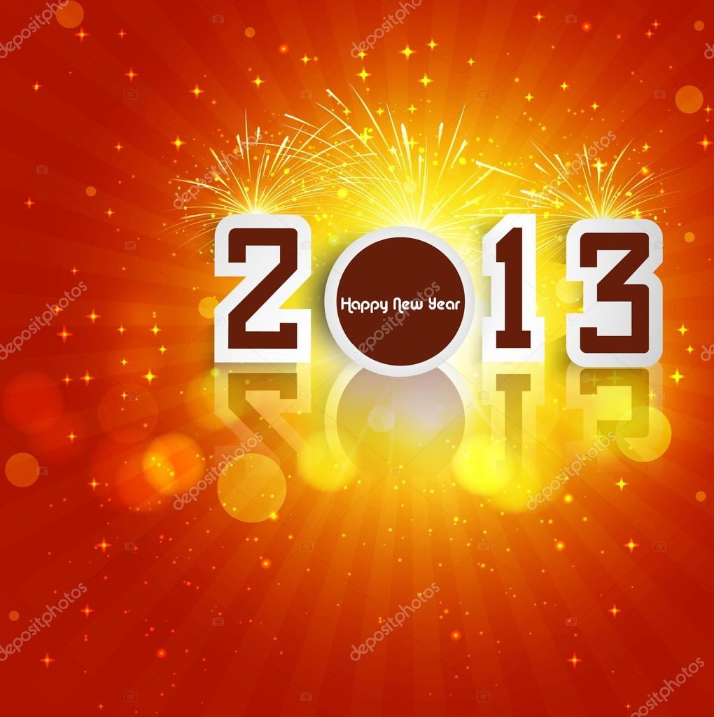 New year stylish 2013 reflection colorful background  Stock Vector #16944191