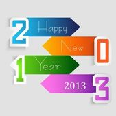 New year stylish 2013 arrow colorful creative vector — Stock Vector