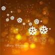 Christmas snowflakes colorful background — Stock Vector