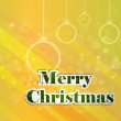 Merry christmas greeting card background — Stock Vector