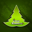 Merry Christmas green tree background card vector — Stock Vector #17324445