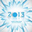 New year 2013 reflection for swirl blue wave creative colorful v — Stock Vector