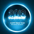 Happy new year 2013 circle blue colorful celebration background — Stock Vector