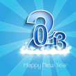 Stock Vector: New year stylish 2013 blue bright colorful background vector