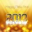 Stock Vector: New year stylish 2013 bright colorful fantastic vector backgroun