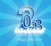 New year stylish 2013 blue bright colorful background vector — Stock Vector
