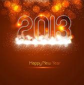 Parlak 2013 yeni yıla renkli kutlama tatil vektör — Stok Vektör