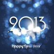 New Year&#039;s card 2013 blue colorful circle background Vector illu - Stock Vector