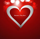 Heart red colorful Valentines day card vector — Stock Vector