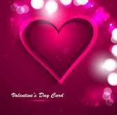 Beautiful Valentine's Day card celebration vector — Stockvektor