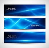 Abstract blue colorful website header or banner set vector — Stock Vector
