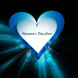 Beautiful hearts Valentine's day or Wedding wave vector — 图库矢量图片
