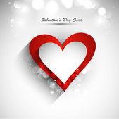 Valentine's day card vector white background — Stockvektor