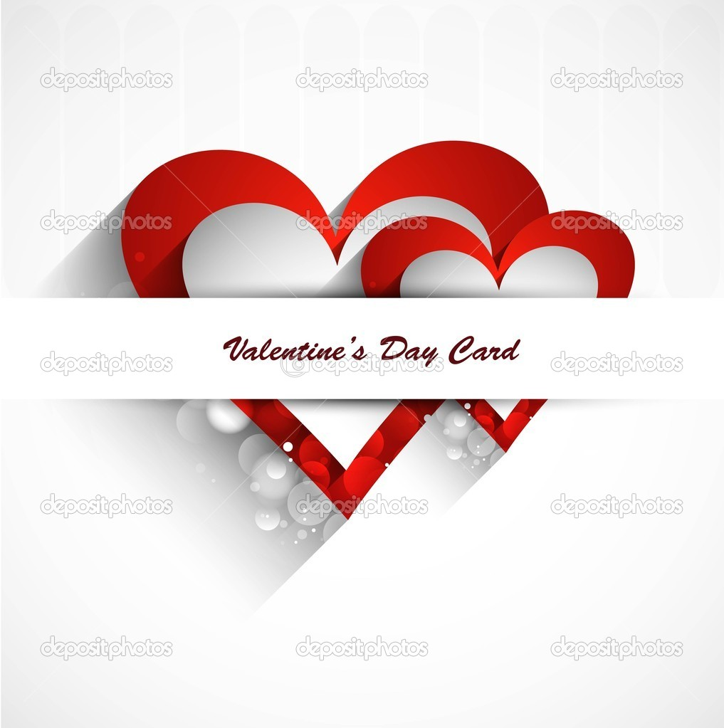 Valentine's day or Wedding card vector design  Stock Vector #18696705
