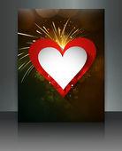 Valentine Days bright brochure colorful design vector — Stock Vector