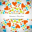 Beautiful valentines day with colorful hearts card — Stock Vector