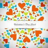 Güzel sevgililer günü kartı renkli kalpler — Stok Vektör