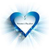 Bella giornata di san valentino con vettoriale cuore colorato blu — Vettoriale Stock