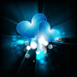 Royalty-Free Stock : Valentines day love blue heart colorful wave Vector