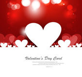 Red Valentines day hearts fantastic love design — Stock Vector