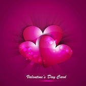 Pink Valentines day heart on creative love background vector — Stock Vector