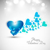 Blue Valentines day hearts fantastic love whit background — Stock Vector