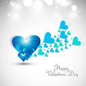 Sfondo san valentino cuori amore fantastica pentecoste di blu — Vettoriale Stock