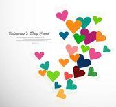 вектор красочные карта валентина сердца фон — Cтоковый вектор