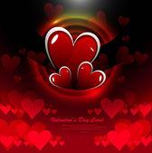 Festa san valentino cuori luminoso colorato carta di vector il — Vettoriale Stock
