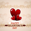 Valentines day greeting card colorful heart vector illustration — 图库矢量图片 #19041425