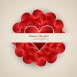 Valentine's day hearts wedding presentation card vector — Stock Vector