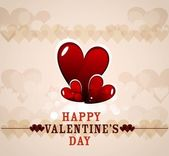 Valentines day greeting card colorful heart vector illustration — ストックベクタ