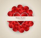Valentine's day hearts wedding presentation card vector — Stock Vector