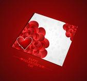 Valentine's day marriage presentation card design vector — Stock Vector