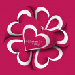 Royalty-Free Stock : Valentines day wedding card creative vector background