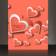 Valentines day brochure heart card colorful vector illustration — Stock Vector