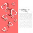Valentine's Day colorful card background — Stock Vector